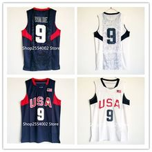 New Rare #9 Dwyane Wade #15 Carmelo Anthony 2008 Beijing Olympics Dream Team USA Throwback Basketball Jersey US Size S-XXL(China)