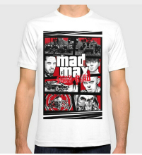Mashup GTA Mad Max Fury New Fashion Men's T-shirts Short Sleeve Cotton T Shirts Man Clothing Cool Tops Tees