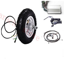 "10"" 500W 48v disc brake electric wheelchair hub motor , electric scooter motor , electric bicycle motor(China)"