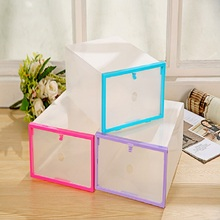 Clear Transparent Drawer Case Plastic Shoe Boxes Storage Home Organizer Stackable Box Foldable(China)