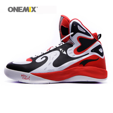 Onemix men's basketball shoes durable outdoor sneakers athletic sport shoes Peking opera design free shipping size US 7-US 12(China)