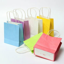 5pcs/lot Luxury Party Bags - Kraft Paper Gift Bag With Handles Recyclable Loot Bag(China)