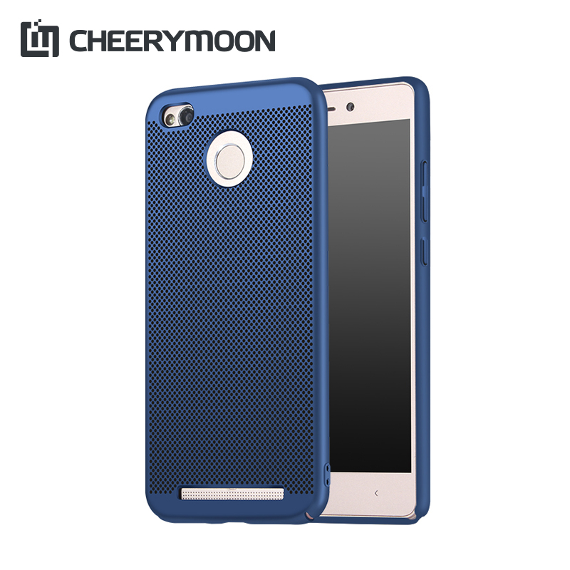CHEERYMOON Dissipate Heat Ventilated Phone Case For Xiaomi Redmi Note 4X 4 4A 3S 3 Pro Mi M Max MIX 2 Hard Back Shell Cover