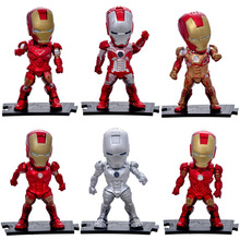 New Attack Iron Man Mark 3 PVC Action Figure Brinquedos Robot Figurine Collection Juguetes Model Kids Toys 6pcs/set(China)