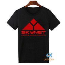 Novelty Skynet Mens T-shirt Cyberdyne Systems Terminator Arnold 80s Retro Tee Shirts Cool Tops Camiseta Homme Free Shipping(China)
