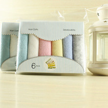 6Pcs/Set Multicolors  Soft Baby Newborn Bath Towel Washcloth Soft Bathing Feeding Wipe Cloth