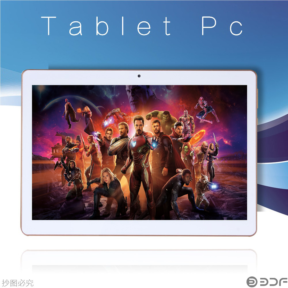 2018 New 10 Inch Tablet Android Tablet Pc 3G Sim Phone Quad Core 1280x800 IPS Tablets WiFi 2G/16G Dual Camera Free Shipping 789(China)