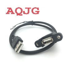 30CM USB 2.0 A Male to USB2.0 A Female Extension Molded Panel Mount Extention Port Cable USB 2.0 Male to Female Panel 1PC