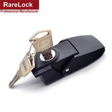 Rarelock Spring Hasp Lock Black Zinc Alloy Simple Convenience Window Furniture Cabinet Locks f