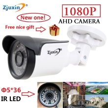 1PC Zjuxin ahd camera 1080p 5*36 LED ahd 2mp camera with HD 3.6mm 1080p ahd camera lens and hd security CCTV Cam for you(China)