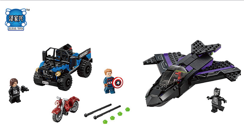 Super Heroes Assemble Figures Panthers children SY581 Building Blocks Bricks Combined Deformation toys Compatible with Lepins<br>