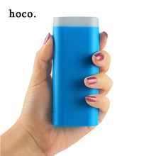 hoco Mini color Power Bank 5600mAh Portable Charger with LED Light External Battery Pack Powerbank for All Phones Fast Shipping