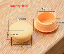 15mm hole cap furniture drilling hole plug cover decoration yellow plastic plug wood chair bed upboard screwpipe dust proof