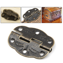 12pcs/set Cabinet Door Butt Hinges Drawer Bronze Decorative corners Butterfly Hinges For Fittings Furniture Storage Wooden Box(China)