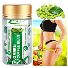 BUY 3 GET 1 FREE! Pure green coffee been extracts for weight loss 100% effective 1 bottle for 1 month supply slimming fast(China)