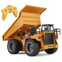 Remote Control 1:12 2.4G RC Trucks Engineering Vehicles Truck Dump Trucks Tipper Multi-function Diecast Alloy Toys For Children