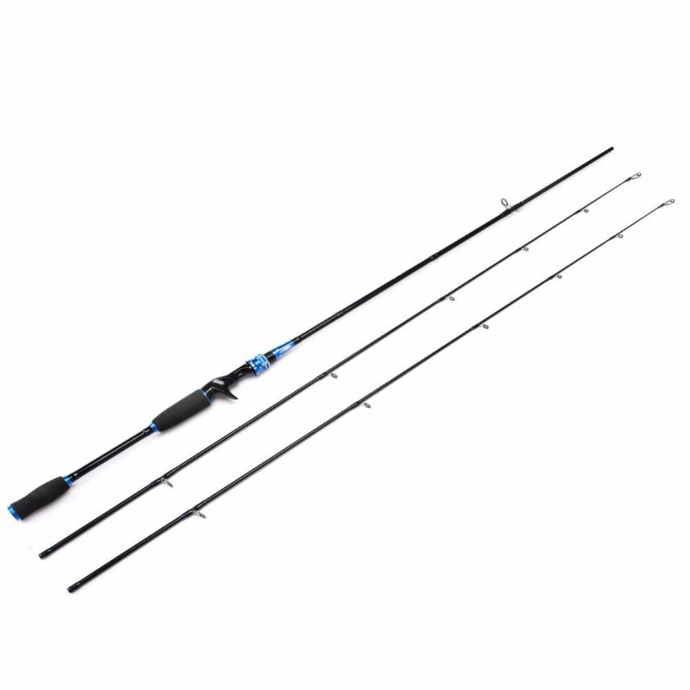 HiUmi 2 Pieces Casting Fishing Rod Pole Portable Medium Heavy Power Baitcasting Fishing Rod with Two Tips M ML Lure Fishing Rod<br>