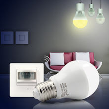 6W PIR LED bulb with PIR senser switch;E27 base;AC86-265V input
