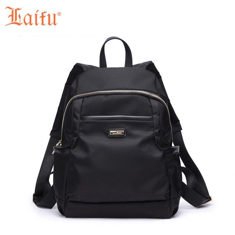 LaiFu Teenage Girls Backpacks Canvas Nylon Space School Bag Waterproof Backpack Casual Travel Rucksack<br>