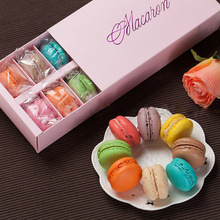 Wholesale 200pcs Macarons box of chocolate packaging box pastry cakes cookie box of 12 tablets #GF690(China)