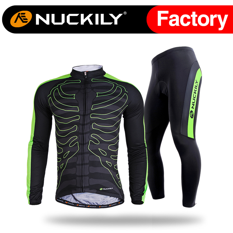 Nuckily spring hot selling polyester spandex sports custom cycling long sleeve set<br><br>Aliexpress