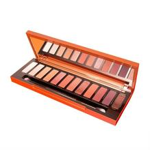 2017 New 12 colors eye shadow Naked heat palette pumpkin color eyeshadow plate brown red warm orange makeup plate