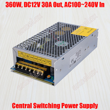30A 360W DC 12V Output AC 110V 220V In Centralized Power Supply Central Switching Power Source for CCTV Camera Security System