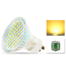 GU10 480lm 640lm 5w 6w SMD 3528 48 60 LEDS Light Bulb With Glass Cover Warm White Cold Whtite AC 220V 230V Spotlight Spot Lamp(China)