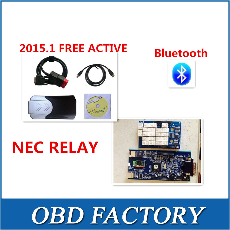 dhl 5PCS/LOT 2015.1 R1 free active any time add much 2015 years car new box with bluetooth for tcs cdp pro plus with NEC RELAY<br><br>Aliexpress