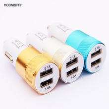 MOONBIFFY Car Phone Charger 2 Port Mini Dual USB Car Charger Adapter Quick Charging 5V 2A for iPhone Samsung Galaxy Xiaomi