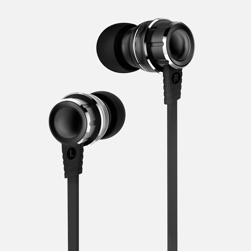 WIEPPO In Ear earphone - Wired 3D Metal Stereo Earbud Earphone with Microphone, 4 Drivers for Hifi Audio and Deep Bass, Noise<br>