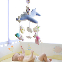 SHILOH Crib Stroller toy Crib mobile Baby Plush Doll Infant Children Newborn Boy Girl Gift with 60 songs Musical Box Holder Arm(China)