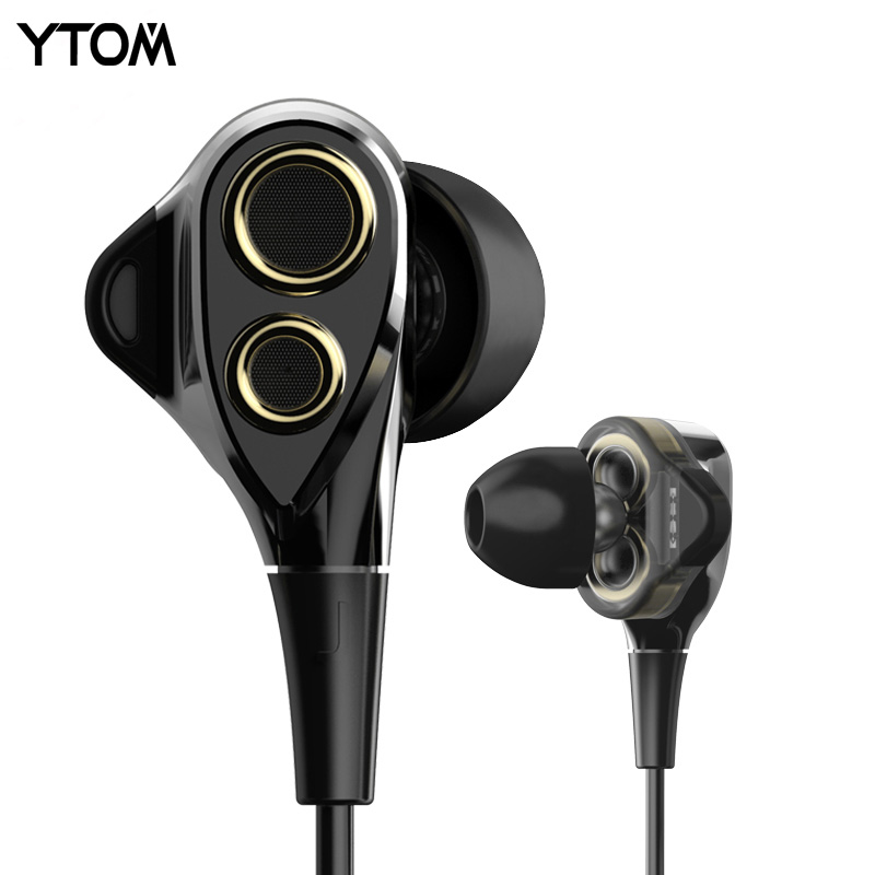 New Hifi Earphone super bass Stereo Wired dual driver Dynamic headphones PK Xiaomi Hybrid Pro earbuds for apple xiaomi THL phone(China (Mainland))