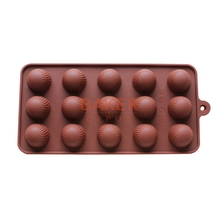 DIY silicone bakeware stable 15 holes round silicone chocolate mold jelly pudding mold silicone ice cube CDSM-157