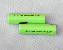 2PCS 1.2V AA rechargeable battery 2500mah 2A 14500 ni-mh nimh cell with pins for Philips Braun electric shaver razor toothbrush