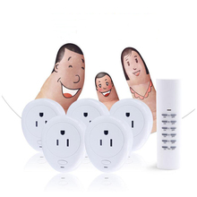 Smart  USA Plug 1 Wireless Remote Control, 5 Socket Receiver Smart Power Socket Switch Family Electrical Remote Socket