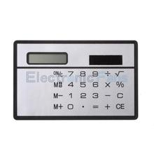 8 Digits Ultra Mini Slim Credit Card Size Solar Power Calculator Small Pocket(China)