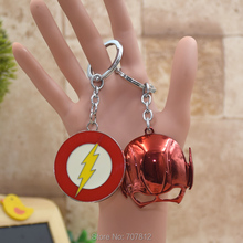 wholesale The Flash Action Figure Keychain Metal Pendant Keychains  Key Accessories Toy  KC058   FSX1