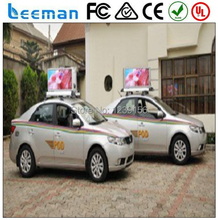 Leeman double sided 3G BUS /taxi/car indoor outdoor sign .led taxi signs display/led taxi top sign