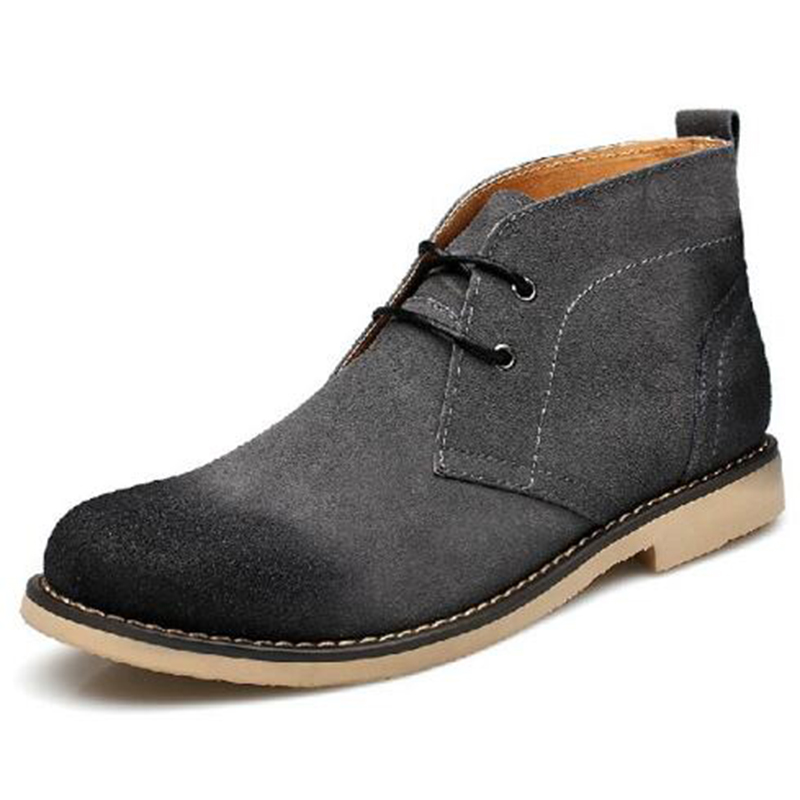 Beita Brand High Quality Leather Suede Casual Men Shoes with Lace-Up Rubber Soles Men Winter Boots Footwear Size 38-44  <br>