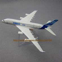 16cm Metal Airplane Plane Model Prototype Airbus 380 A380 Airline Aircraft Alloy  Model Figure Diecasts Souvenir  Gifts