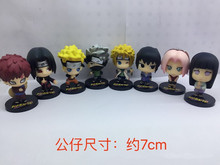 NEW 8pcs/lot 7cm  anime figure Q version Naruto action figure set action figure collectible model toys brinquedos