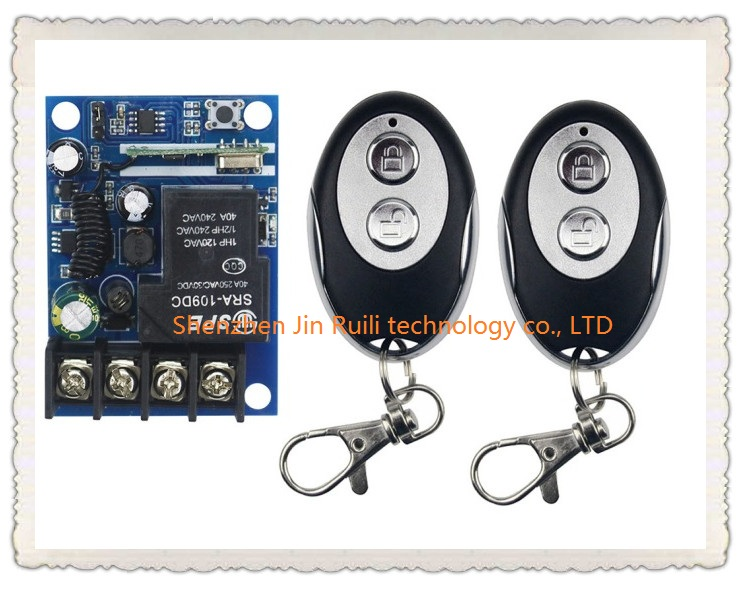New DC12V 24V 36V 48V 1CH RF Wireless Remote Control Switch System 2pcs ellipse shape transmitter &amp;1 receiver Learning code<br><br>Aliexpress