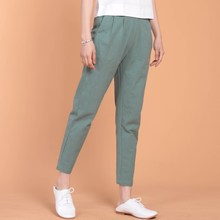 2017 New Summer Women Loose Cotton Linen Trouser Casual Elastic Waist harem pants Vintage Female Pants plus size pants M-6XL 7XL
