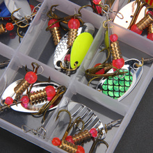 30pcs Assorted Fishing Lures Sheet Life-like Swimming Trout Spoon Metal Fishing Lures Spinner Baits Bass Tackle(China)