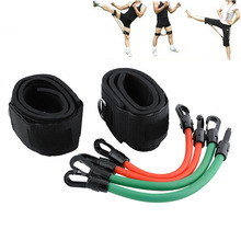 Training Workout Leg Fitness Strength Resistance Kinetic Tube Bands For Power Kick Boxing Thai Punch Taekwondo