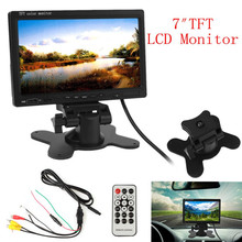 CAR HORIZON 800 X 480 7 Inch Pixel TFT LCD Digital Panel Color Car Rear View Monitor with 2 Video Input Support USB