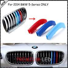 3 pieces Exact Fit M-Colored Grille Insert Trims For BMW F10 F11 5 Series 2014 528i 535i 550i M5 Center Kidney Grill