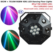 2Pcs LED Stage Dancing Floor Lights 120W High Power Professional Moving Head Lights With 11/19 Channels For Christmas Decoration