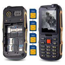 4 Sim Cards 4 Standby phone 2.4'' Screen Outside FM Quad Sim Cell Phone Russian Hebrew Greek Language cheap phones H-mobile(China)